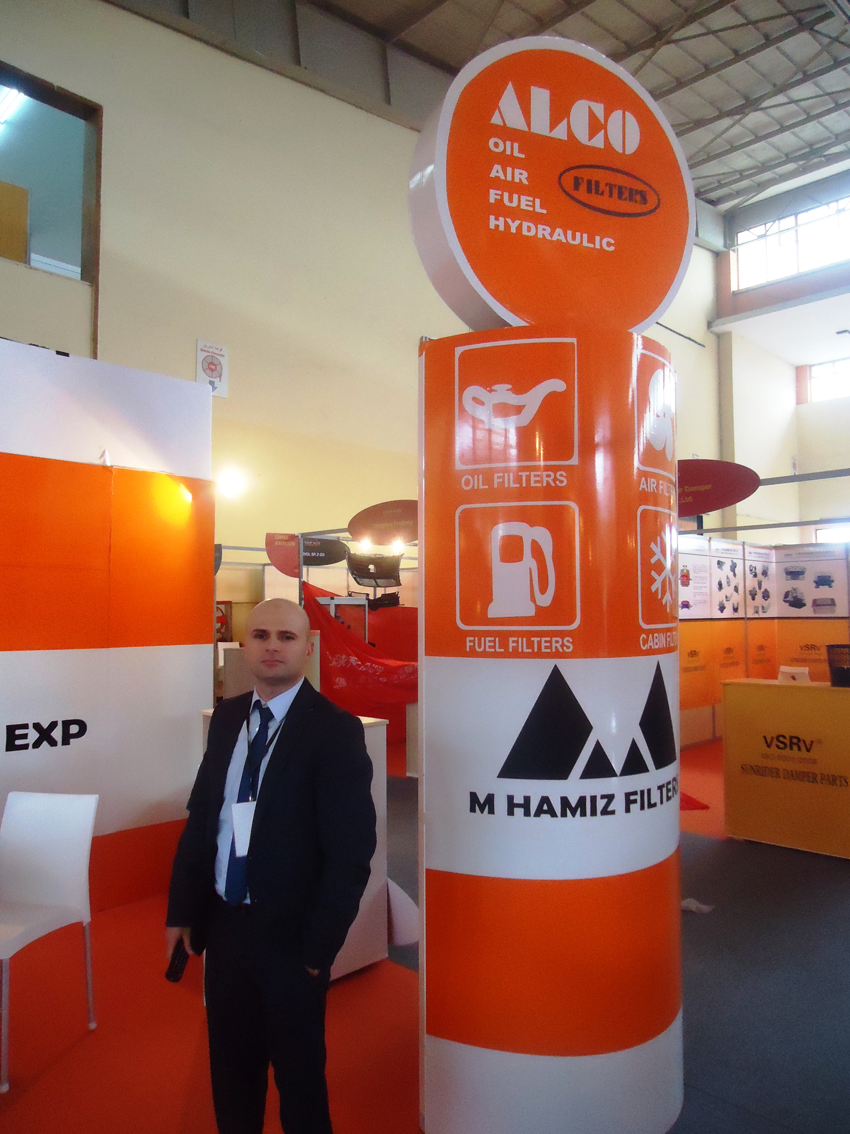 Alco Filters Exhibits In Equip Auto Algeria 2014 Fuel Is Certified With The Qualitative System Iso 90012008 Which Guarantees That Our Products Of Are Always Excellent Quality